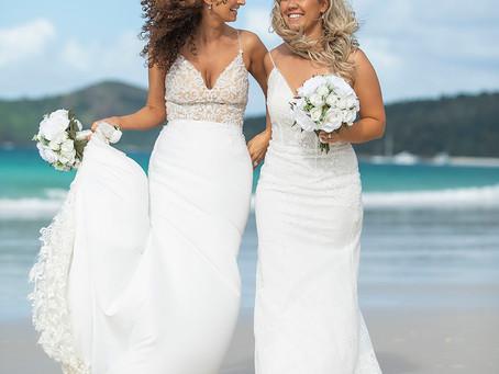Rebecca and Bree | Whitehaven Beach Wedding