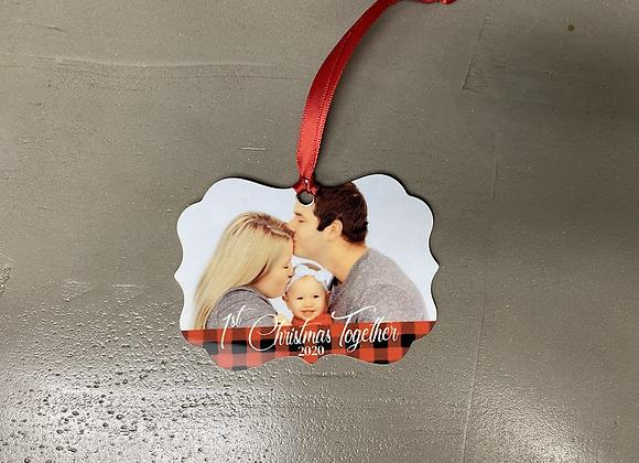 1st Christmas Together Ornament  (metal)