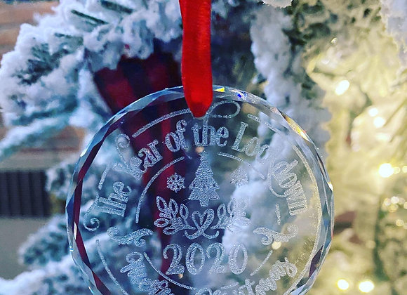 2020 Year of the Lockdown Crystal Ornament