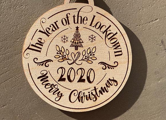 2020 Lock Down Ornament
