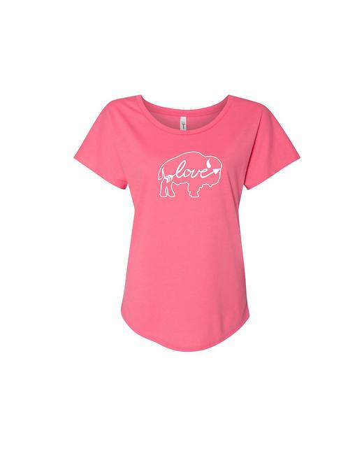 LOVE Arrow Ladies Flow T-Shirt