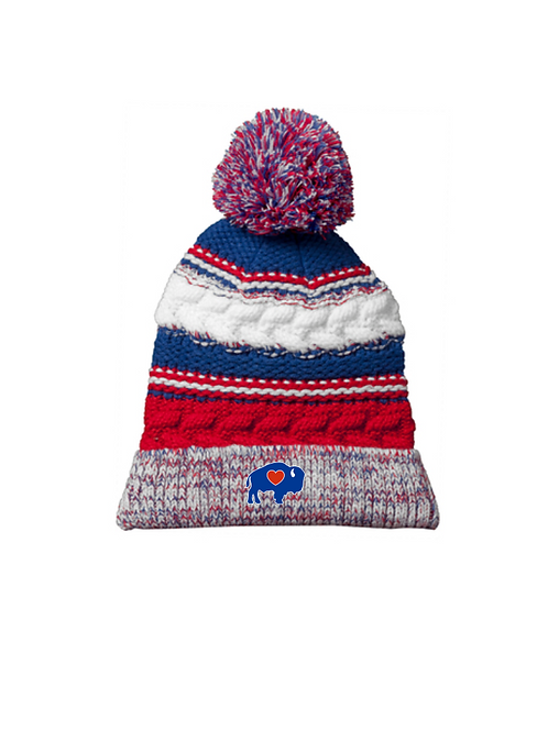 BuffaLove Winter Knit Pom Hat