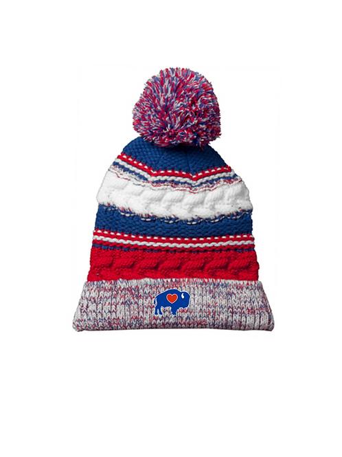 Winter Knit Pom Hat