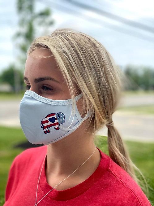Buffalo Flag Adult Face Mask