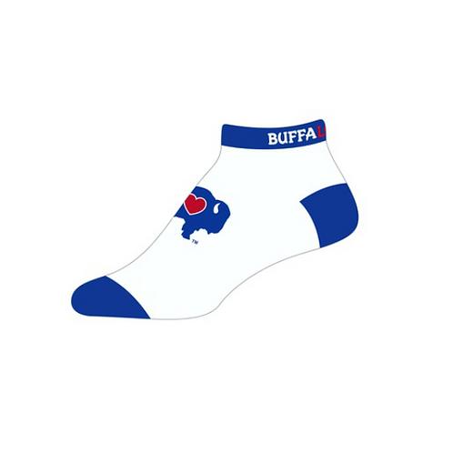 White/Blue Ankle Socks