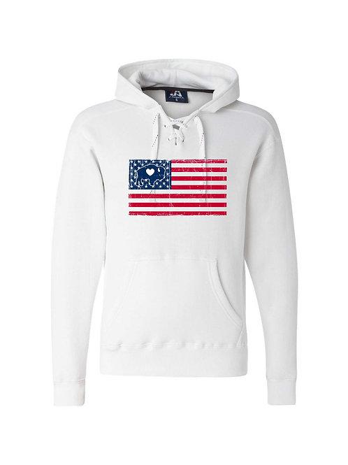 American Flag Lace Hoodie