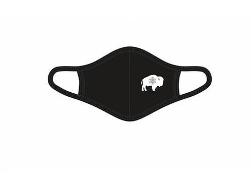 Buffalo with Snowflake Adult Face Mask