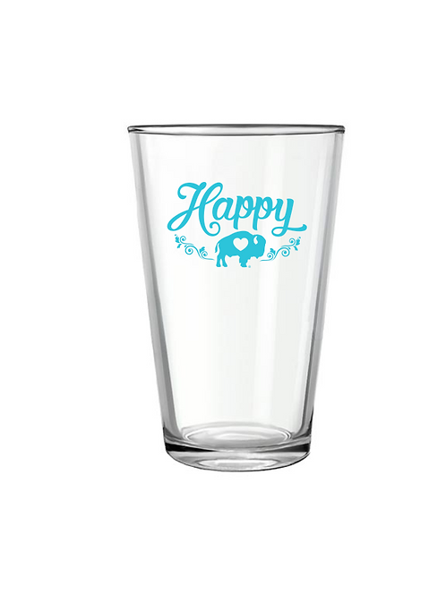 Happy Pint Glass