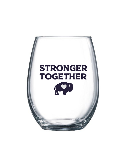 Stronger Together Stemless Wine Glass