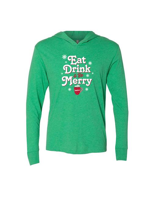 Eat, Drink, Be Merry Lightweight Hoodie