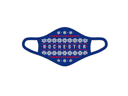 Rochester Ugly Christmas Adult Face Mask