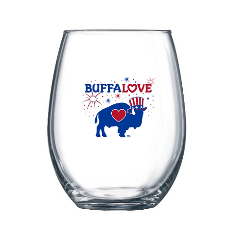 Uncle Sam Stemless Wine Glass