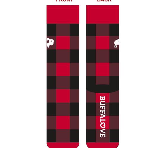Red/Black Plaid Crew Socks