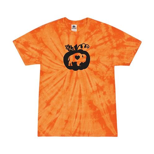 Orange Tie Dye Pumpkin T-Shirt