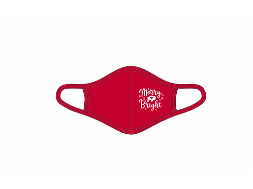 Merry & Bright Red Adult Face Mask