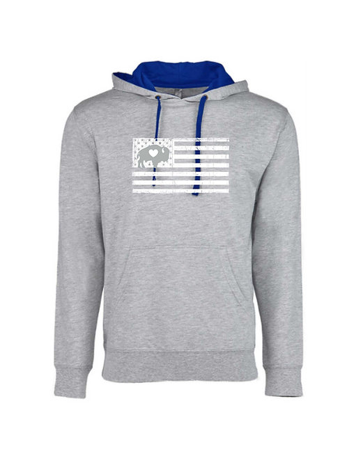 Distressed Flag French Terry Hoodie