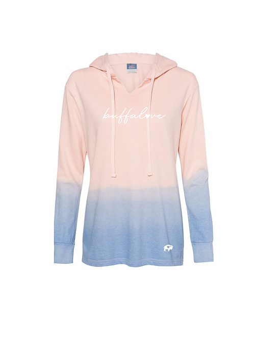 Ombre V-Neck Hoodie