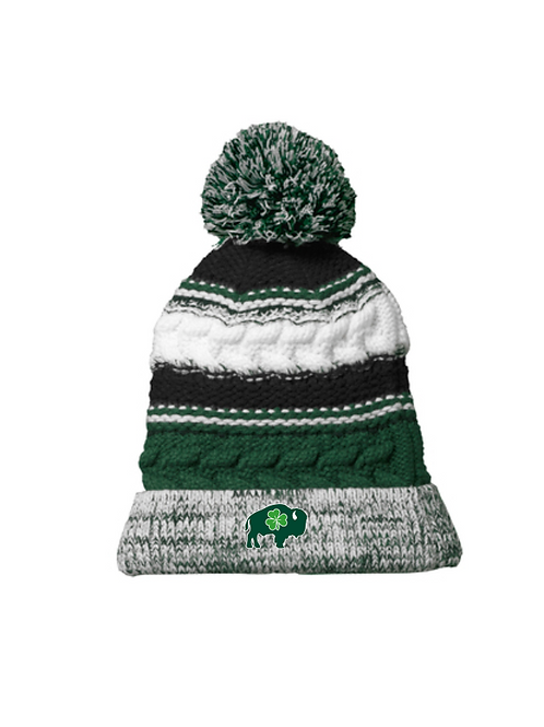 Irish Knit Pom Hat