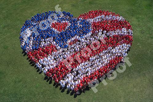 Patriotic Heart 8x10 Photo