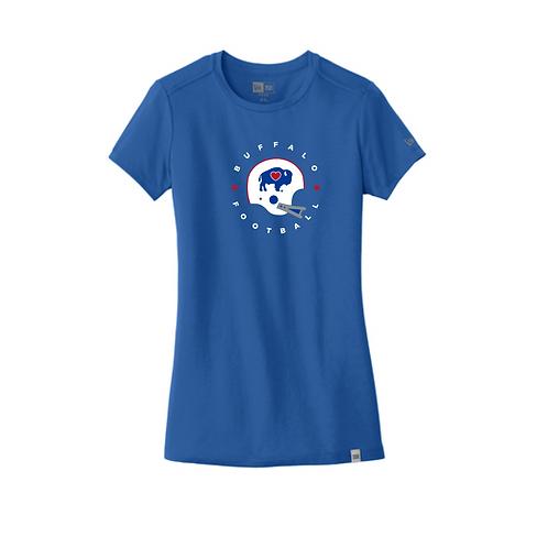 New Era Football Helmet Ladies Crew T-Shirt