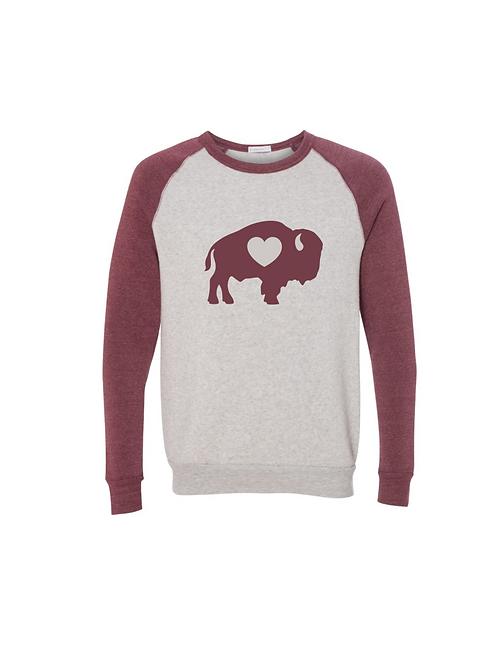 Maroon Raglan Sweatshirt