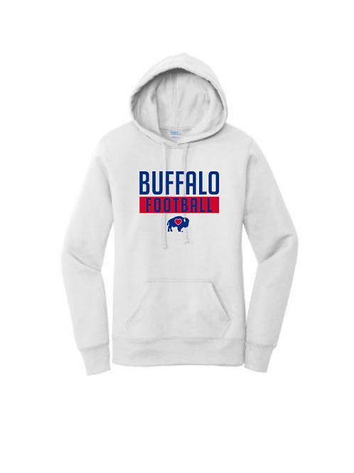 Ladies Buffalo Football Hoodie