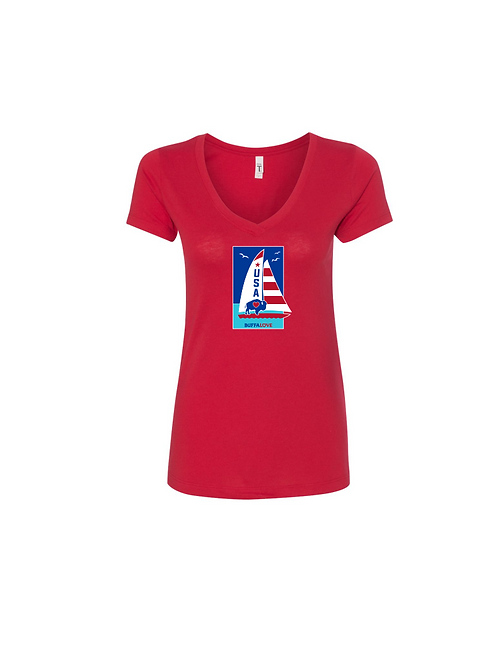 Sailboat  V-Neck