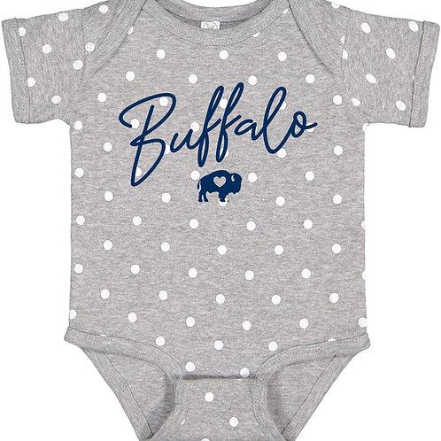 Polka Dot Buffalo Onesie