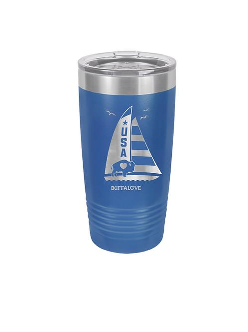 Sailboat Stainless Travel Mug