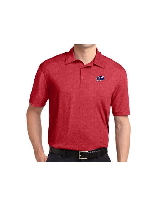 Mens Heather Polo