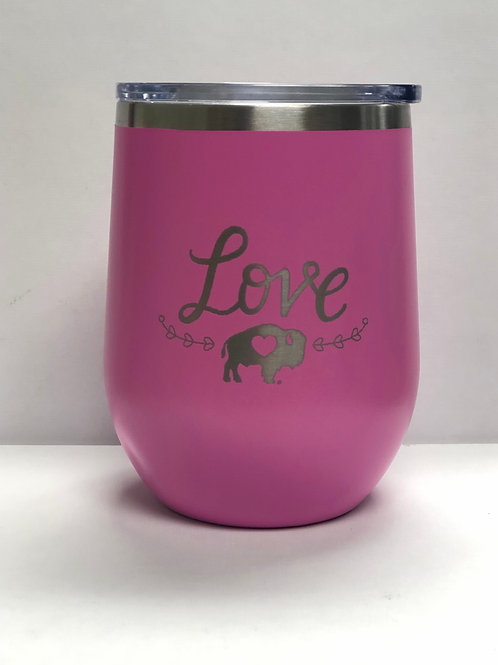 LOVE Stainless Stemless Wine Tumbler