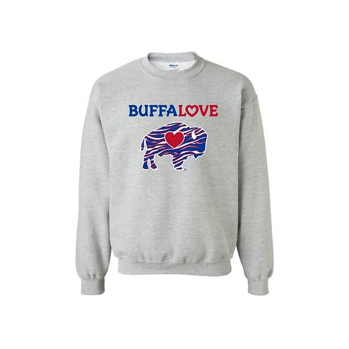 BuffaLove Stripes Sweatshirt