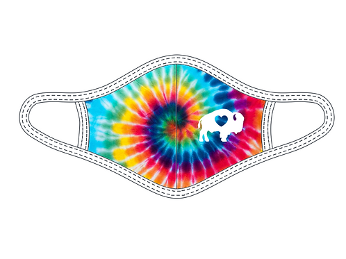 YOUTH Multi Color Tie Dye Face Mask
