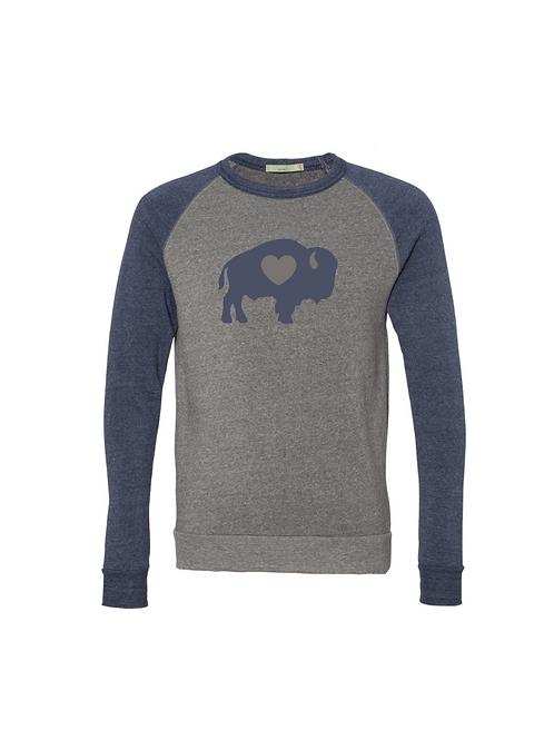 Traditional Navy Raglan Sweatshirt