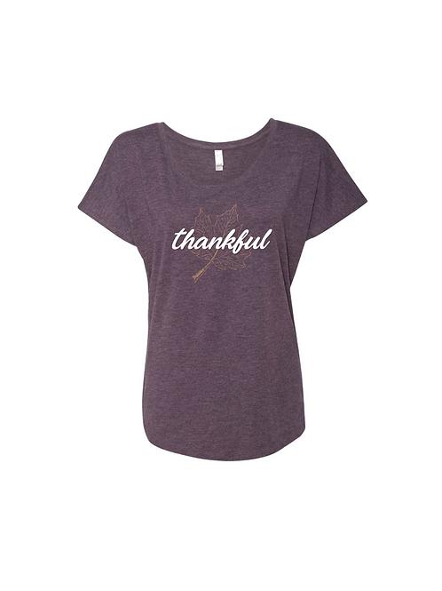 Thankful Flowy Ladies T-Shirt