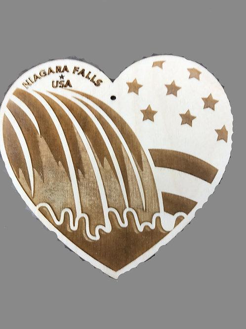 Niagara Falls Wooden Ornament