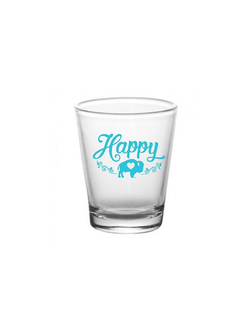 Happy Shot Glass