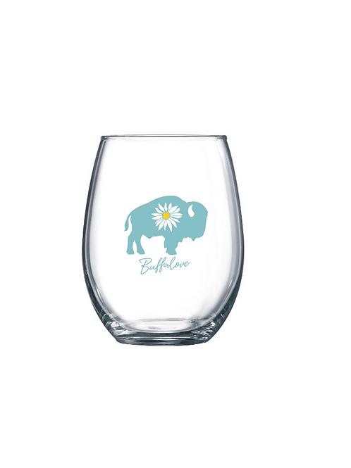 Daisy Stemless Wine Glass