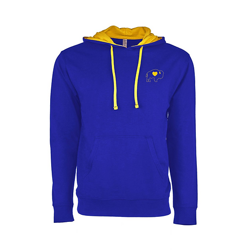 Royal/Gold Left Chest French Terry Hoodie