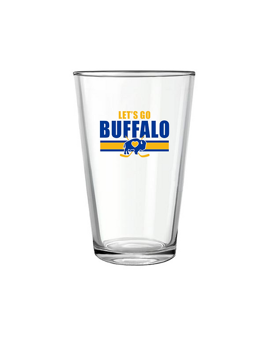 Let's Go Hockey Pint Glass