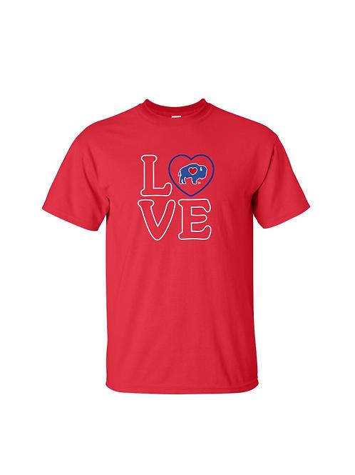 BuffaLove Heart Shirts