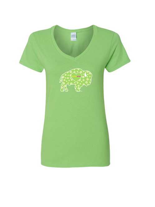Spring Daisy Womens V-neck