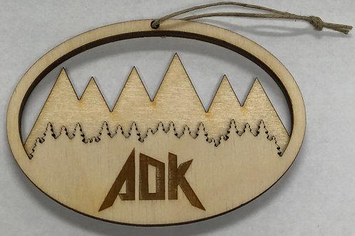 ADK Wooden Ornament