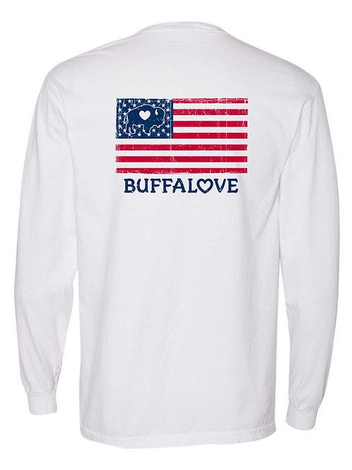 American Flag Pocket Long Sleeve