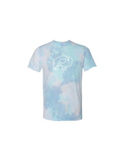 Buffalo Outline Tie Dye T-Shirt