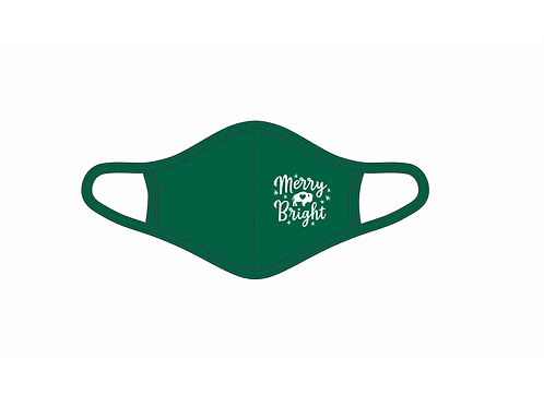 Merry & Bright Green Adult Face Mask
