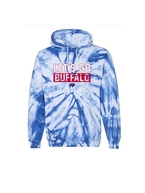 Let's Go Buffalo Tie Dye Hoodie