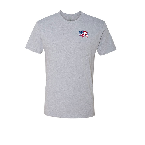 Left Chest America T-Shirt