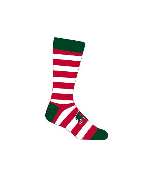 Red/White/Green Crew Socks