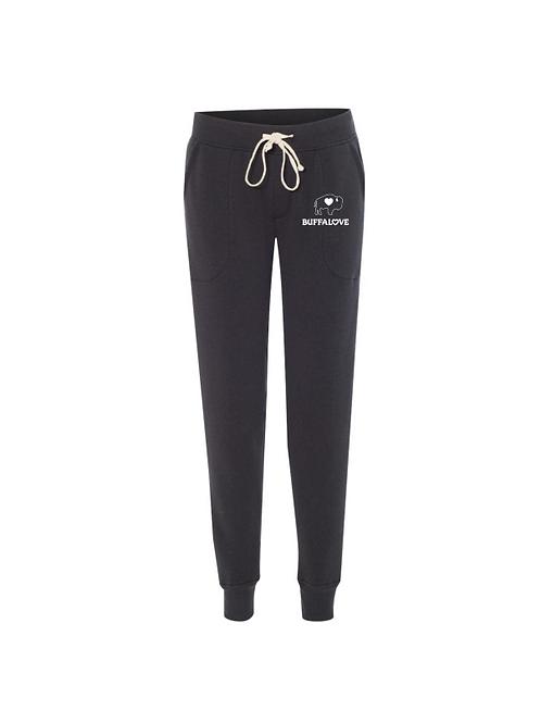 Traditional Ladies Jogger Pants Jet Black